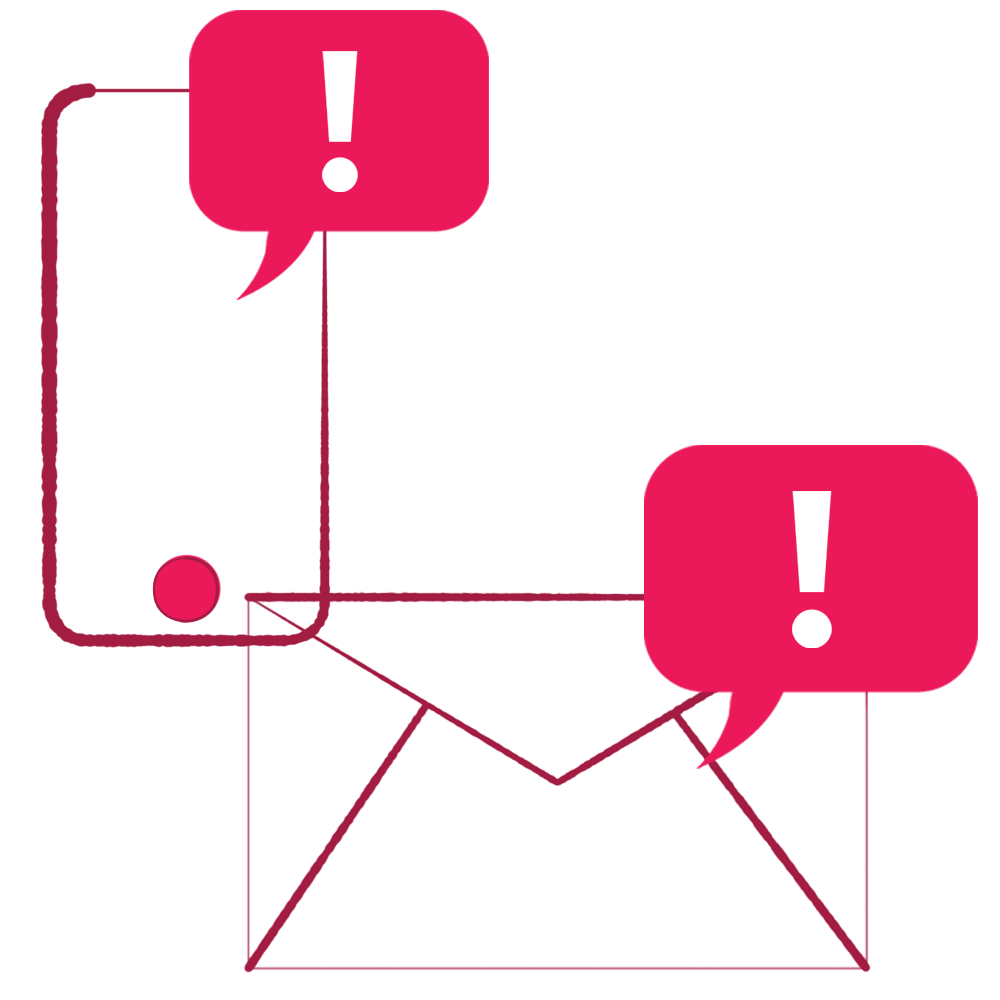 Text and Email Icons