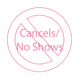 No symbol over cancels and noshows
